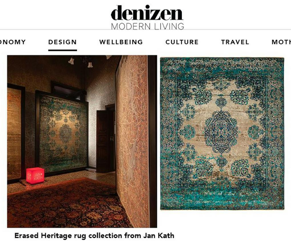 The Denizen Feature Rug Designer Jan Kath section