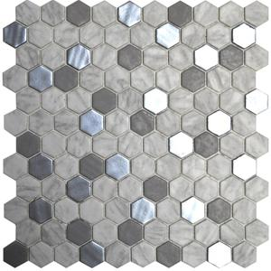 Hexagon Blends - Metal Carrara image