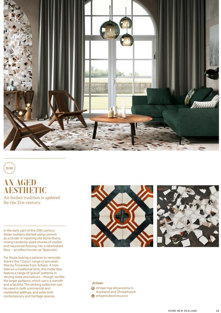 I Cocci Tile series in HOME section