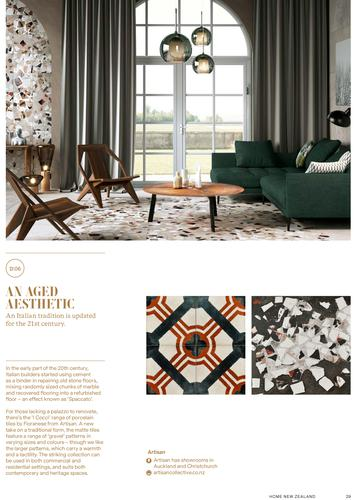 I Cocci tile series in HOME magazine section
