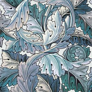Acanthus - Blue/Off White image