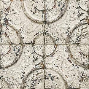 Antique off-white tin tiles image