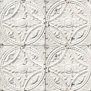 Antique white tin tiles image