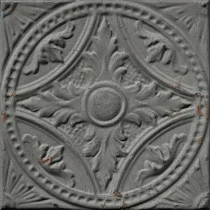 Antique mid-grey tin tiles image