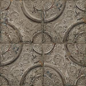 Antique taupe grey tin tiles image