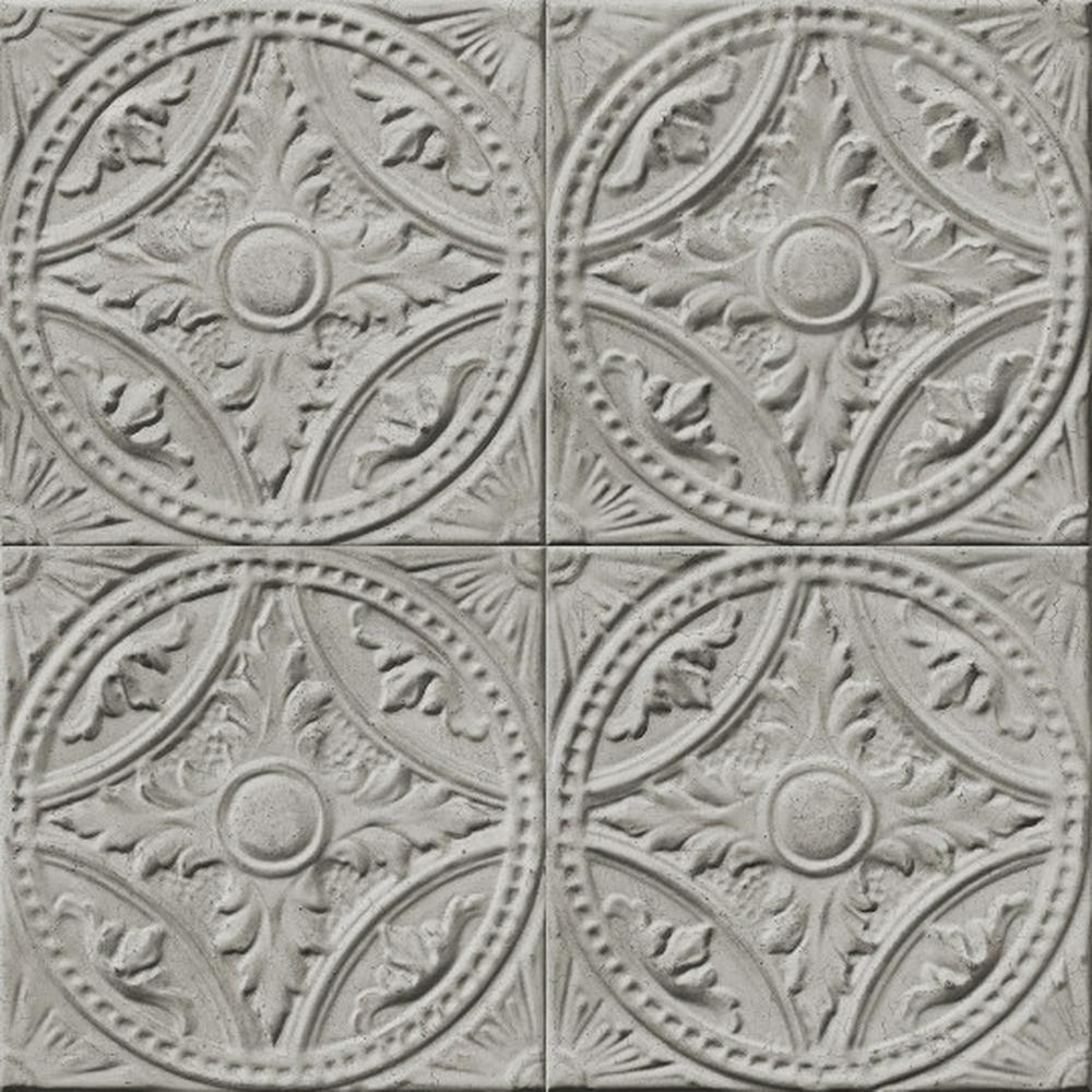 Koziel Trompe L Oeil tin tiles medallion   koziel   wallpaper   artisan