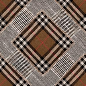 Checkered Patchwork - Mid Brown image